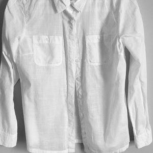 Caslon White cotton button shirt